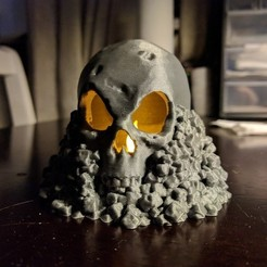 3d printer model Skull on Rocks, kijai