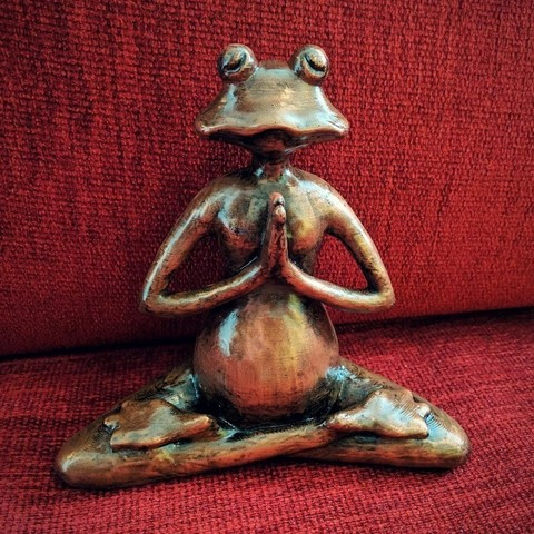 Download STL file Meditating frog • 3D printing template, kijai