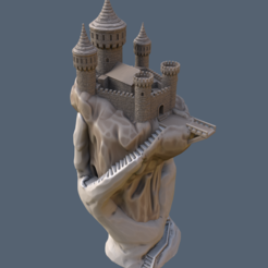 handcastletes4.png Download free STL file Abode of the Hand • Model to 3D print, kijai