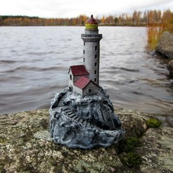 Free STL Lighthouse on a rock, kijai