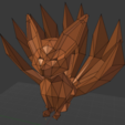 Download STL file Low-poly Nine-tailed Fox • Template to 3D print, kijai