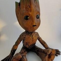 Free stl Baby Groot, kijai