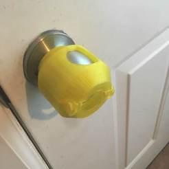 Free STL file Doorknob Cover, 9R07S6VOOU0K20