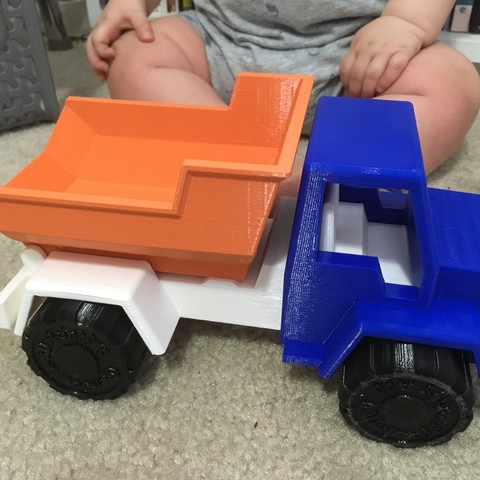 Download free STL file Toy Dump Truck • 3D printing design, DanielNoree