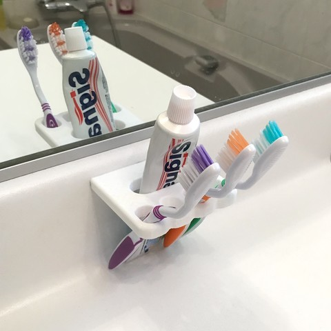 Télécharger STL gratuit Porte brosse à dent, fousfous