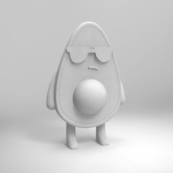 Download free 3D printing models avocado for painting, Joss