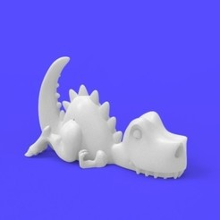 untitled.54.jpg Download STL file T rex lazy / Lazy rex • 3D print design, Joss