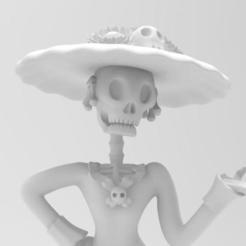 Free STL file Catrina Skull, Joss