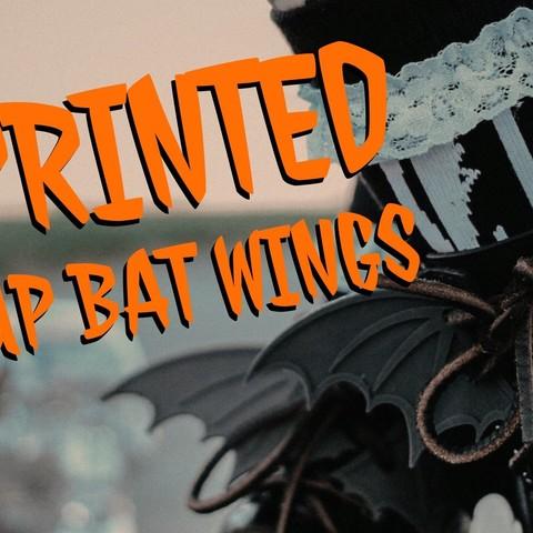 BatWingLaces AmieDD.jpeg Download free STL file Lace Up Bat Wings • 3D print design, amiedd