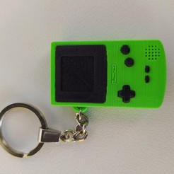 Descargar modelos 3D NINTENDO GAMEBOY COLOR KEYCHAIN, Brocoli05