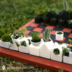1.jpg Download STL file Micro Planter Chess Set • 3D print template, XYZWorkshop
