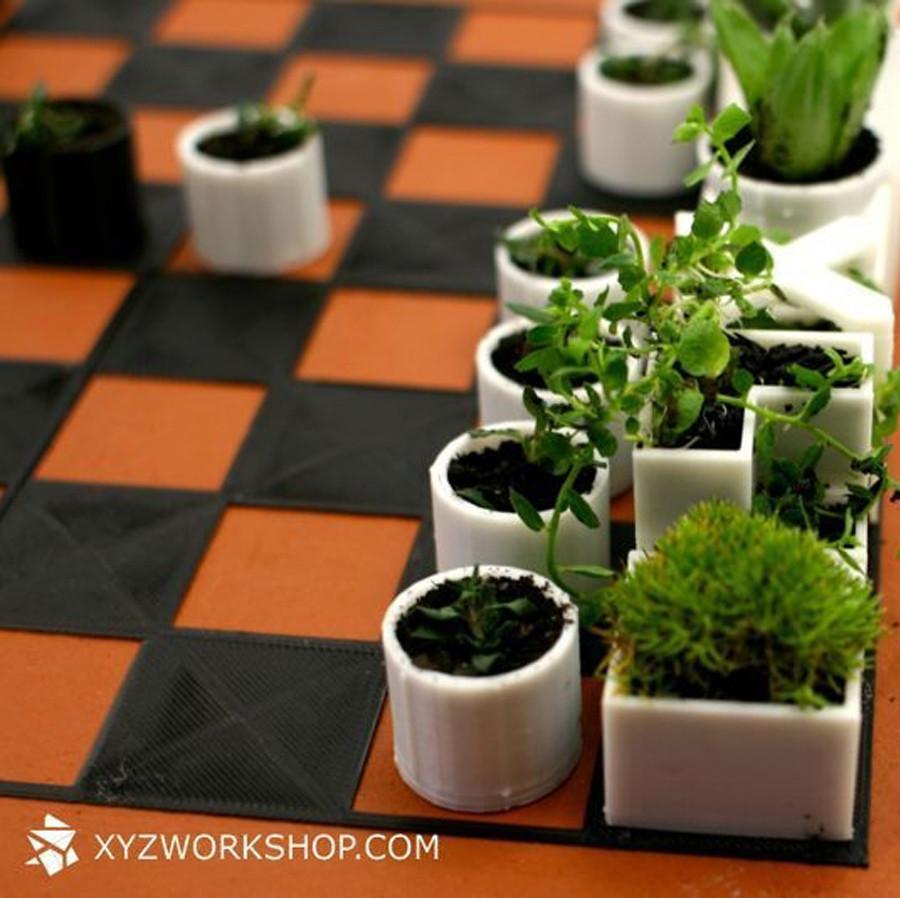 2.jpg Download STL file Micro Planter Chess Set • 3D print template, XYZWorkshop