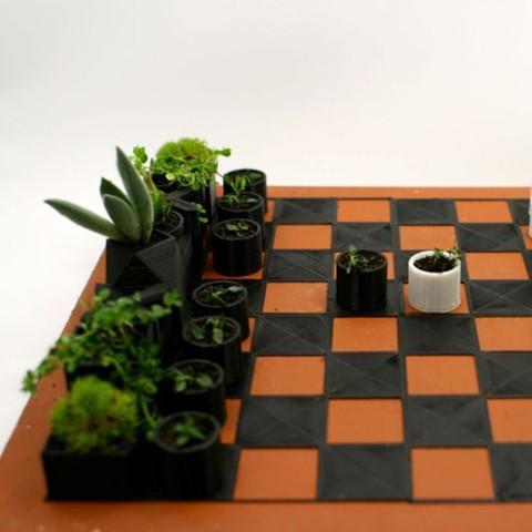 3.jpg Download STL file Micro Planter Chess Set • 3D print template, XYZWorkshop