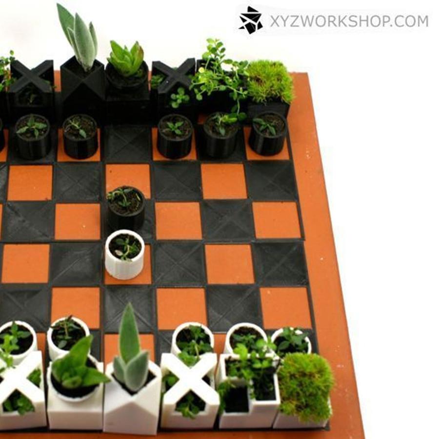 4.jpg Download STL file Micro Planter Chess Set • 3D print template, XYZWorkshop