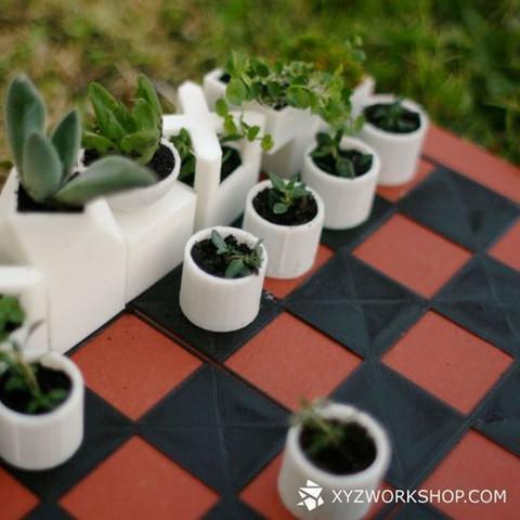 5.jpg Download STL file Micro Planter Chess Set • 3D print template, XYZWorkshop