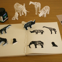 Download free 3D printing models Digital Safari Stamps, XYZWorkshop
