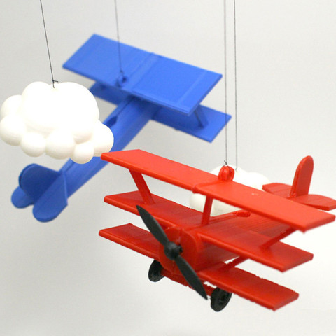 Free 3D printer designs Red Barron Mobile, XYZWorkshop