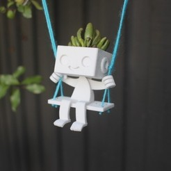 710x528_6659919_2804417_1459316854.jpg Download STL file Robbie the Robot Planter - Swing • 3D print design, XYZWorkshop