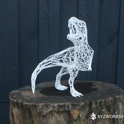 rex_4.jpg Download STL file Digital Extinction- Wireframe Rex- Pose 2 Roar • Object to 3D print, XYZWorkshop