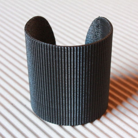 Download free STL file Cuff Bracelet - Stripes • 3D printing object, PrintelierProps