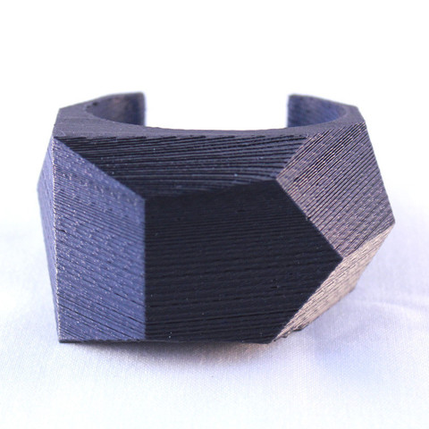 Free 3d printer model Faceted Cuff Bracelet, printelier