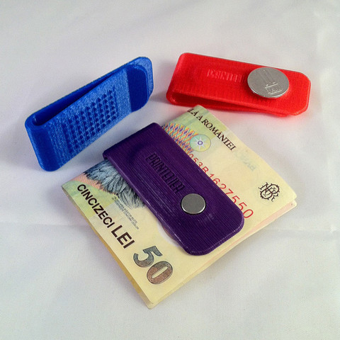 Download free 3D print files Money Clip, PrintelierProps