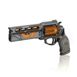 Download STL file The Devil You Know Legendary Hand Cannon • 3D print model, PrintelierProps