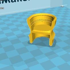 Download free 3D printer templates Chair, malre