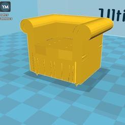 Faut.jpg Download OBJ file Fauteuil Avec Revision • 3D print design, malre