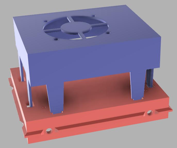 2020-08-02_11_38_29.png Télécharger fichier STL gratuit Montage simple SKR1.4 pour l'extrusion 2020 avec refroidissement actif • Objet à imprimer en 3D, maxdamage