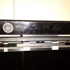 Front.JPG Download free STL file Xbox one Kinect and Wiiu sensor bar holder for Samsung TV • 3D print template, maxdamage