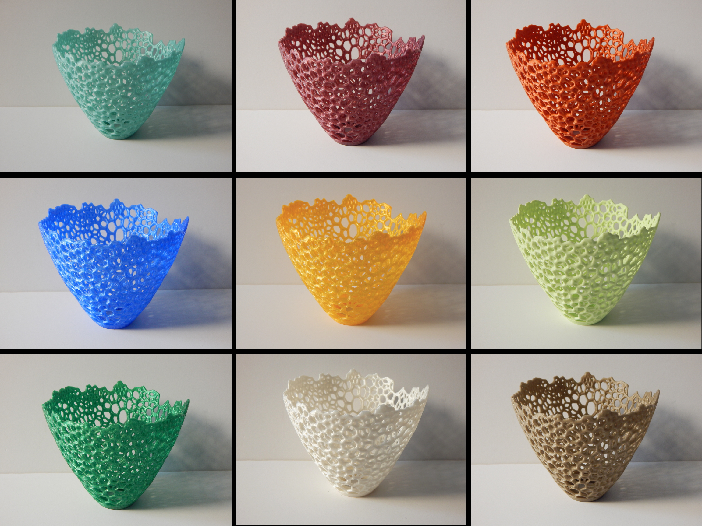 9voronoi.JPG Download free STL file Voronoi Lampshade • 3D printer template, GregEl