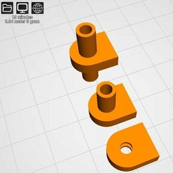 tube 3 views.jpg Download STL file Tube-rod Tube to rod connection, 3 pieces set • 3D printable object, edgarinventor