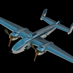 3D printing model North American B-25 Mitchell, 3Dmodeling