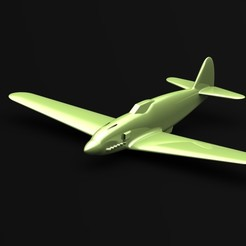 Ki61-Render.JPG Download STL file Kawasaki Ki-61 Hien • 3D printing template, 3Dmodeling