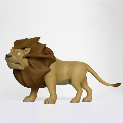 Free 3d printer model Majestic Lion, mooses