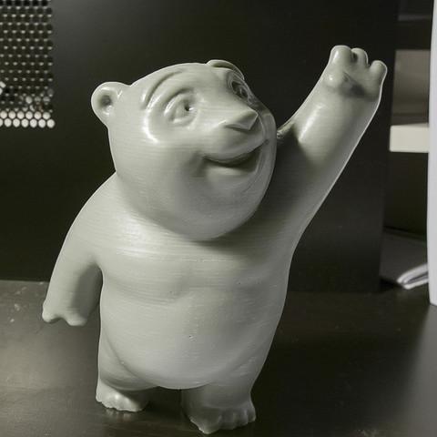 Free 3d model Little Bear, mooses
