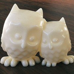 Free 3D printer designs Cuddling Owls, mooses