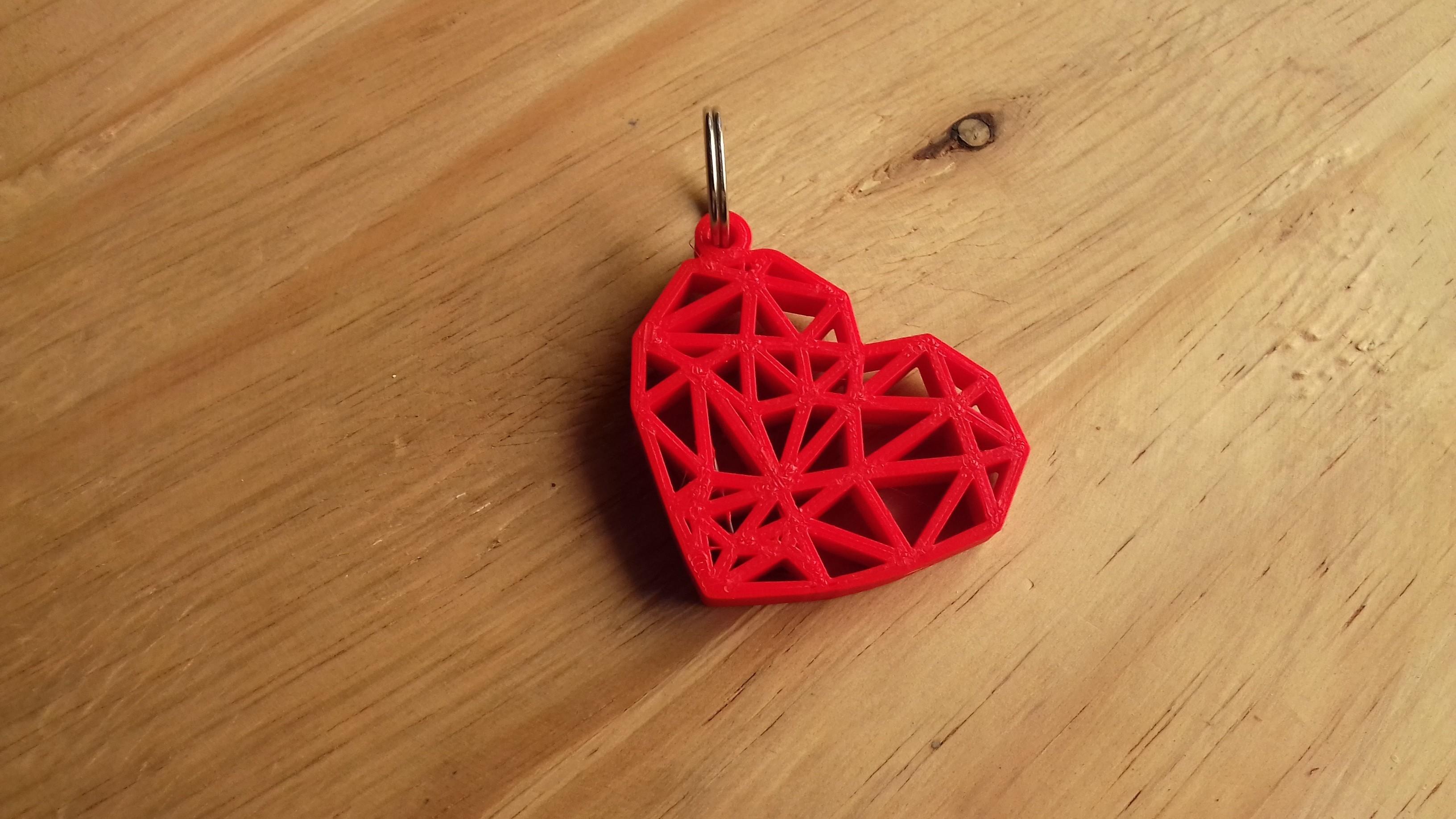 20180205_131833.jpg Download free STL file Geometric Heart Key Ring • 3D print model, Cancore_3D