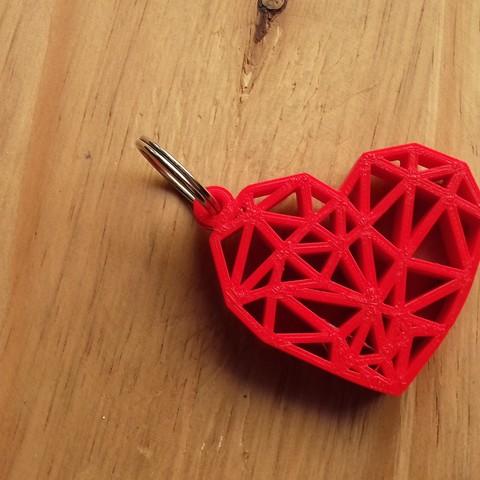20180205_131937.jpg Download free STL file Geometric Heart Key Ring • 3D print model, Cancore_3D