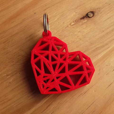 20180205_131930.jpg Download free STL file Geometric Heart Key Ring • 3D print model, Cancore_3D