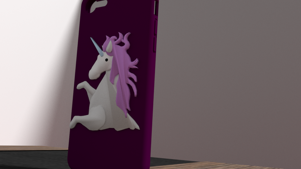 licorne 2.png Download OBJ file iphone 6 plus unicorn shell • Object to 3D print, Ukiyograph