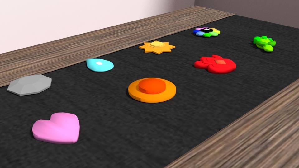 badges1.png Download OBJ file Pokemon Badges - 1st Generation • 3D print model, Ukiyograph