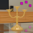 3D printer files Candle holder for candlesticks, Ukiyograph
