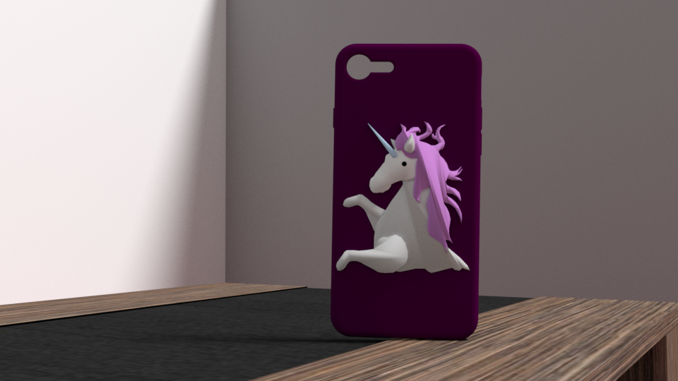 licorne 3.png Download OBJ file iphone 6 plus unicorn shell • Object to 3D print, Ukiyograph