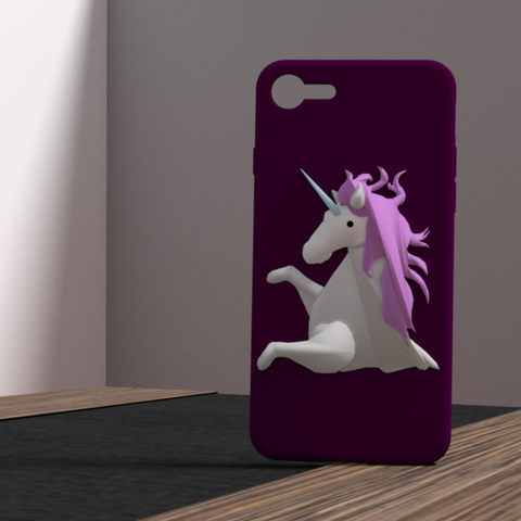 3D printing model iphone 6 plus unicorn shell, Ukiyograph