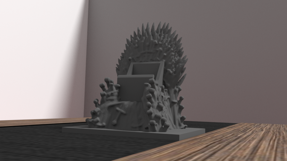 throne 2.png Download OBJ file Support Game of throne - iphone & android • Object to 3D print, Ukiyograph