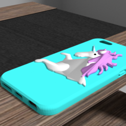 3D printer models Iphone 6 unicorn shell, Ukiyograph