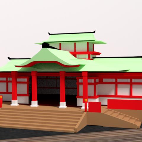 3D print files Japanese Temple, Ukiyograph
