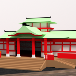 3D print files Japanese Temple, Ukiyograph